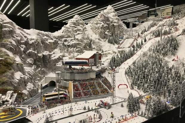 Макет горнолыжного курорта. Ятак инеотгадала, какой именно курорт взят заоснову
