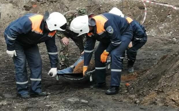 В Брянске обнаружили артиллерийский снаряд времён Великой Отечественной войны