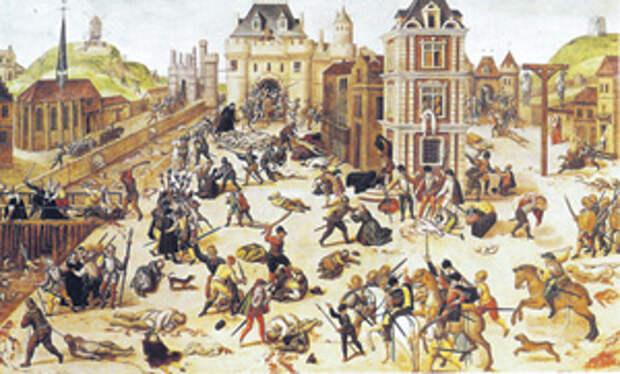 Во Франции за одну Варфоломеевскую ночь было убито примерно 30 тысяч человек.Франсуа Дюбуа. Варфоломеевская ночь. XVI век. Кантональный музей изящных искусств, Лозанна