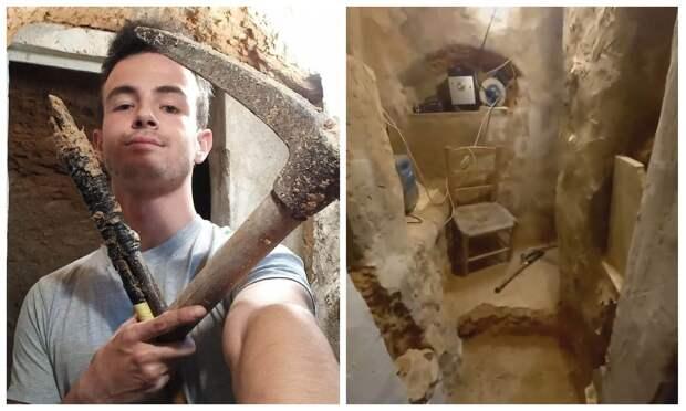 Ушел в подполье: парень из Испании вырыл подземный дом в саду после ссоры с родителями