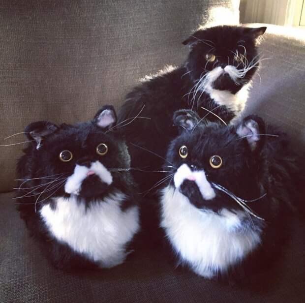 Любимая кошка наваших ножках: американская компания делает назаказ пушистые тапочки-копии домашних любимцев