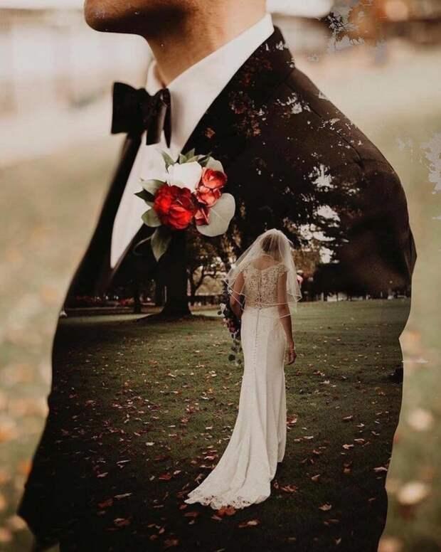Красивая идея свадебного фото