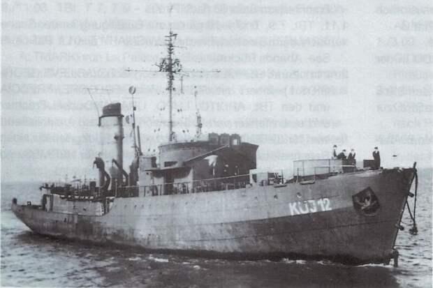 Преобразованный рыболовецкий траулер Kriegsmarine KUJ-12 пережил вторую мировую войну и был разоружен и использован Немецким управлением по подбору мин
