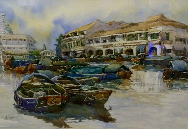 """""""В этом городе нет однозначного времени года..."""" Сингапурский художник Chew Piak San (1942 - 2018)"""