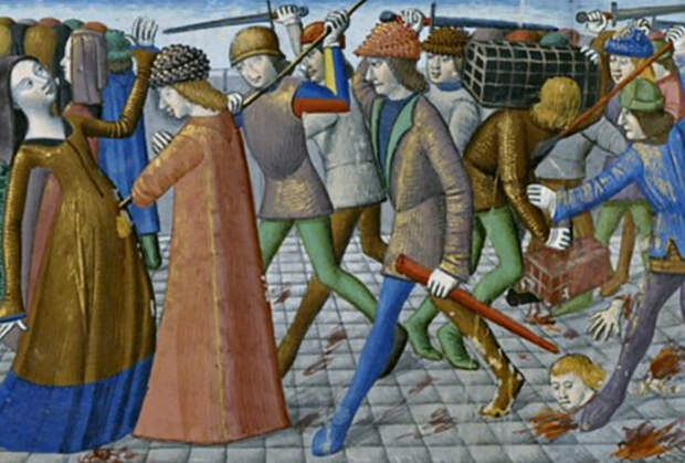 Резня парижан во время восстания кабошьенов. 1418 год