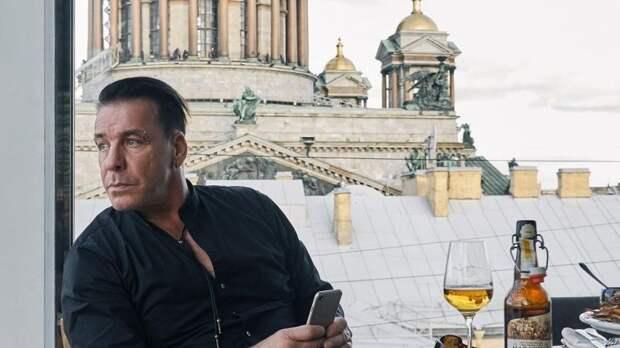 Солист группы Rammstein Тилль Линдеман отметил свой День рождения в Петербурге