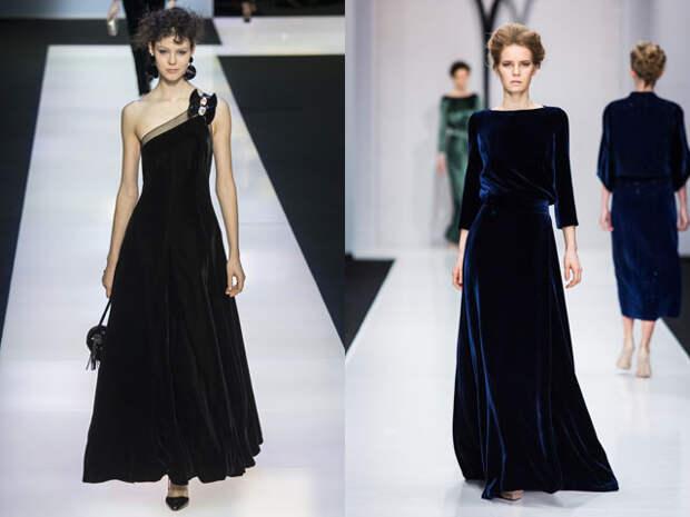 Новогодние велюровые платья 2017
