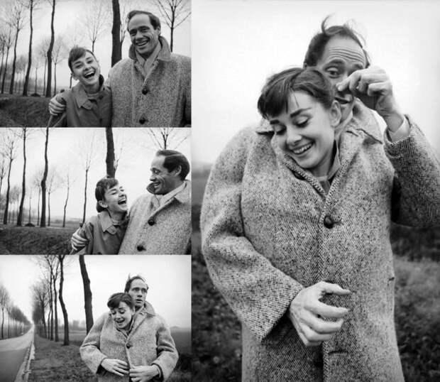Это любовь: Одри Хепберн и Мел Феррер.