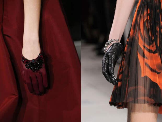 Модные вечерние перчатки осень-зима 2016-2017