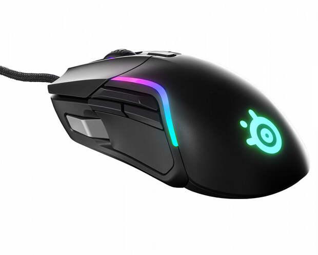 Игровая мышь SteelSeries Rival 5 имеет симметричную форму, но рассчитана на управление правой рукой