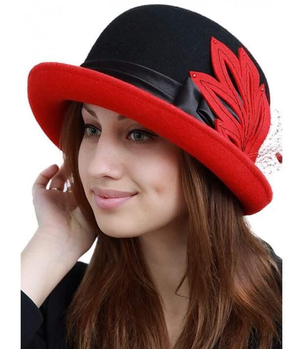 Эффектная шляпа из фетра