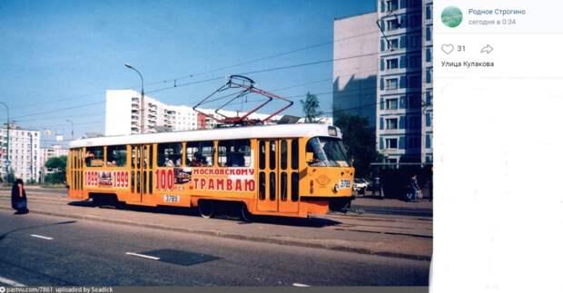 Фото дня: юбилейный трамвай в Строгине