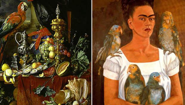 Какие тайные смыслы несёт образ попугая на картинах великих художников разных эпох
