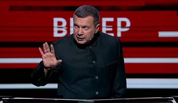 Соловьев ответил напризыв Зеленского кПутину овстрече наДонбассе