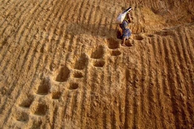 Восхождение на песочный холм.  жизнь, интересные, фото
