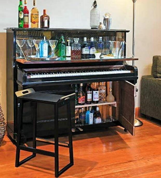 Бар в пианино.