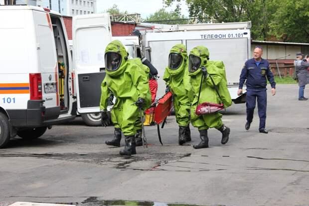 Вместе со спасателями: на мясоперерабатывающем комбинате прошли учения