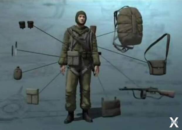 Снаряжение советского десантника времен Великой Отечественной войны