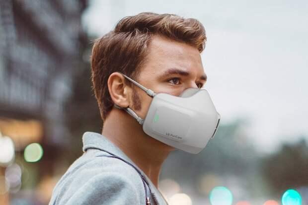 Носимый очиститель воздуха LG PuriCare помещает фильтры, датчики и вентиляторы в маску для лица, чтобы вам было легче дышать
