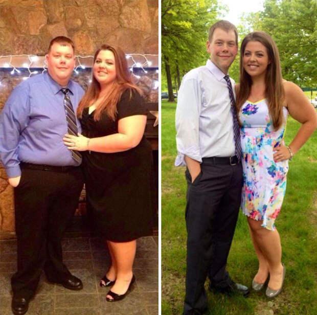 Три года назад они решили заняться своим здоровьем,и за это время смогли похудеть на 147 кило  диета, лишний вес, похудение