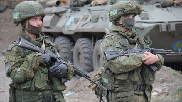У российских миротворцев в Карабахе замечено наступательное вооружение