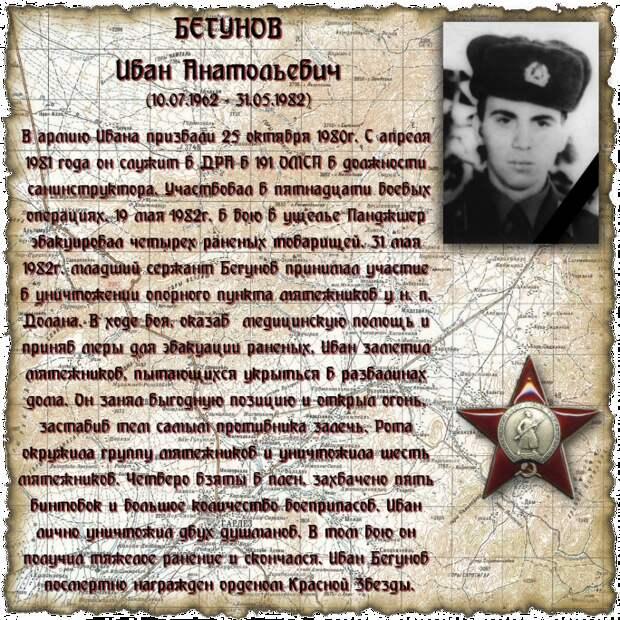 Младший сержант БЕГУНОВ Иван Анатольевич