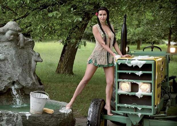Сексуальлные швейцарские фермерши, календрь, фото 8