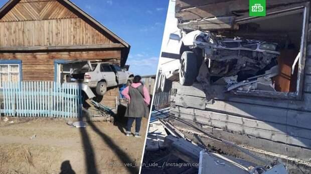 В Бурятии машина насквозь пробила дом со спящим младенцем внутри
