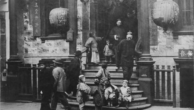 Чайна-таун в Сан-Франциско перед землетрясением 1906года