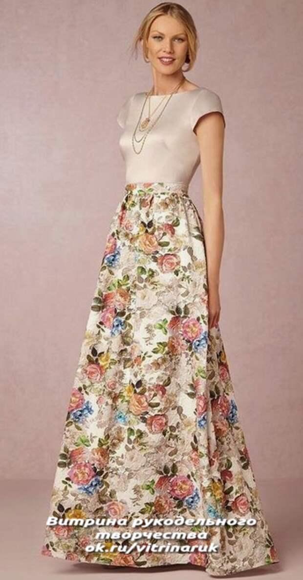 Время летит быстро. Пора шить красивую юбку на лето