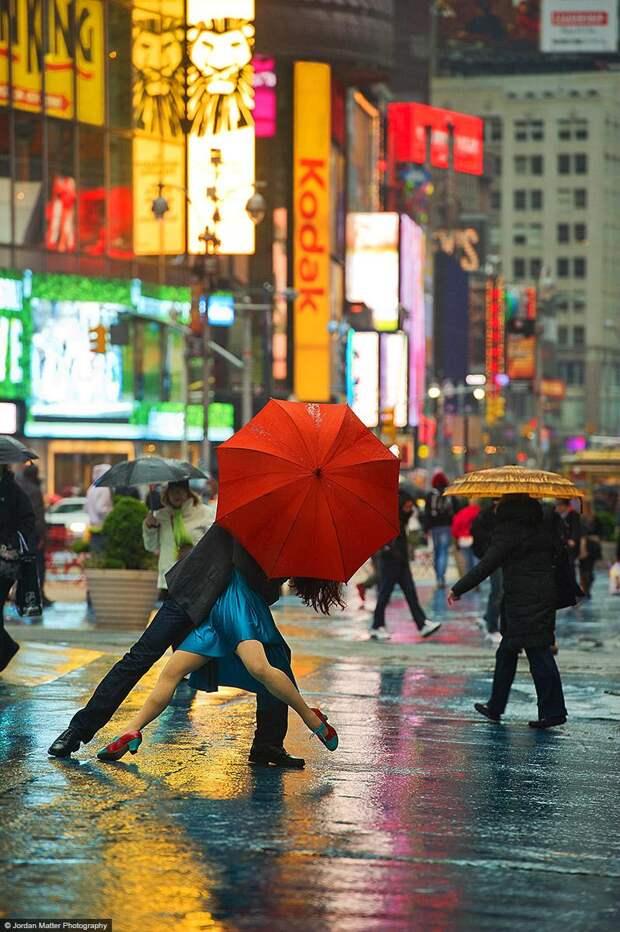 Michael Jagger Evita Arce Times Square