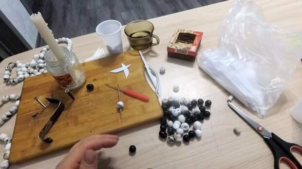Как сделать четки из одноразовой посуды