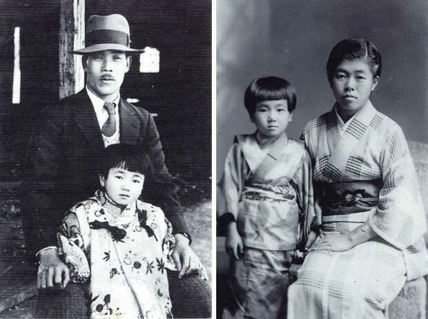 Рэйко с отцом Кэйдзо Ура и со старшей сестрой Сисуэ Ура