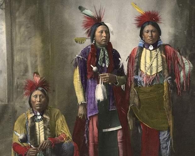 Фото индейцев кайова, 1898 год.