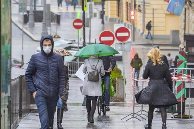 В воскресенье в Москве пройдет небольшой дождь