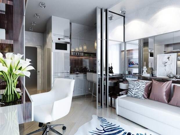 Удачная переделка маленькой квартиры в Санкт-Петербурге