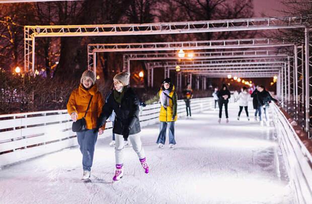 Где можно покататься на коньках в Москве: зима 2020-2021