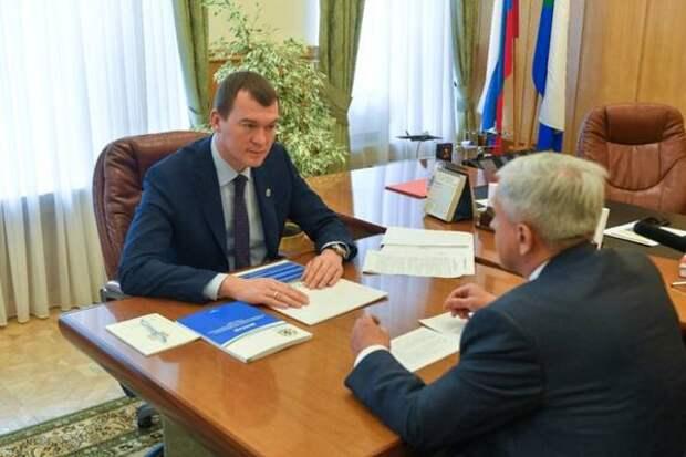 Михаил Дегтярев провел встречу с уполномоченного по правам человека в Хабаровском крае