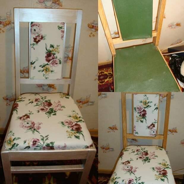 4. Бабушкин стул можно переделать своими руками: покрасить и обтянуть тканью из ИКЕА было стало, красиво, новая жизнь старых вещей, реставраторы, советская мебель