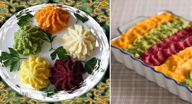 Готовлю детям необычное цветное картофельное пюре: они в восторге