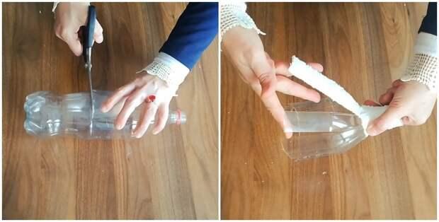Неожиданный способ использования остатков тюля и пластиковой бутылки для создания уютной обстановки