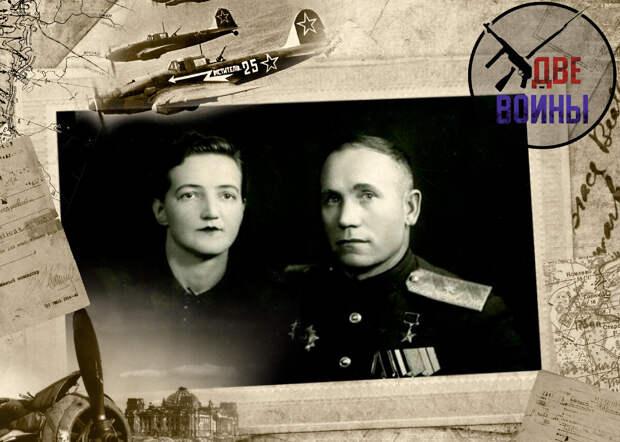 Генерал-майор Наумов с женой. Фото в свободном доступе.