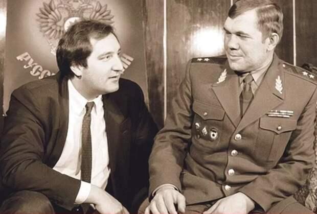 Генерал Лебедь и Рогозин. Фото с сайта life.ru