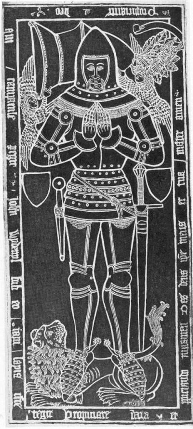 Надгробные плиты рыцарей и… мечи