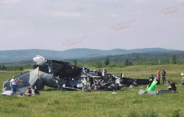 В Кемеровской области из-за отказа двигателя упал самолет