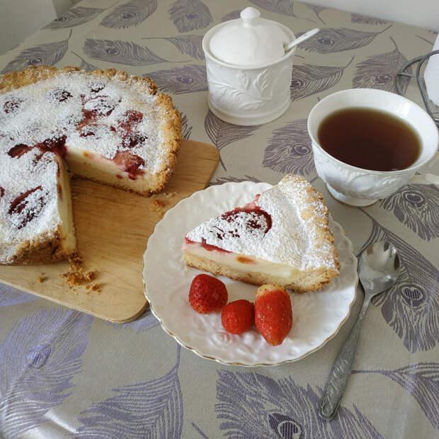 Вкуснейший клубничный пирог