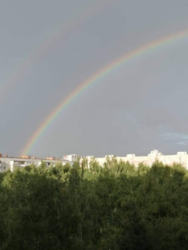 Фото дня: двойная радуга над Лианозово