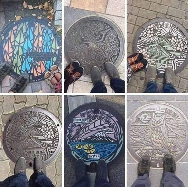 Крышки канализационных люков в Японии - произведения искусства