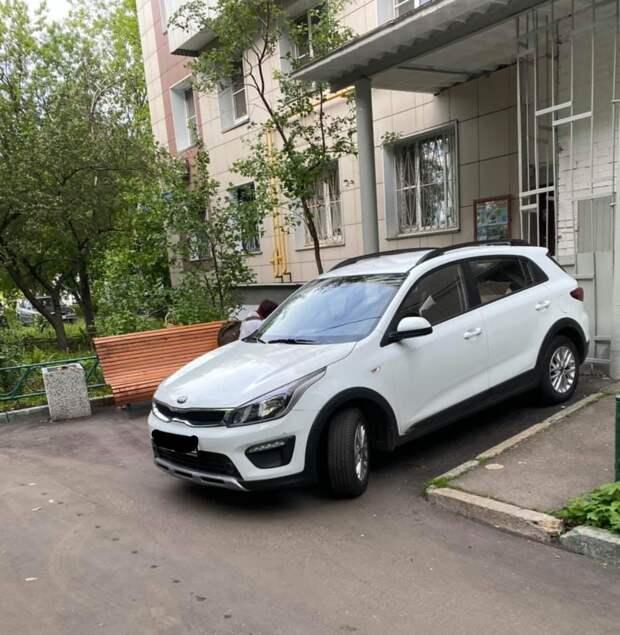 Фото дня: на Шереметьевской обнаружили автохама