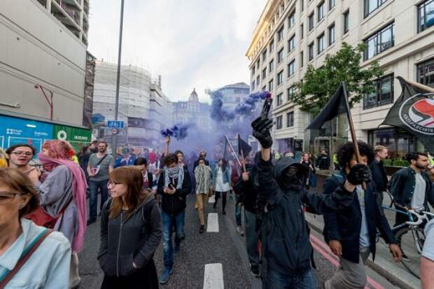 London: Defend Migrants Rights protest after historical EU referendum attracted hundreds of people